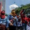 Buruh Kembali Demo UU Cipta Kerja, Polisi Alihkan Lalin di Sekitar DPR
