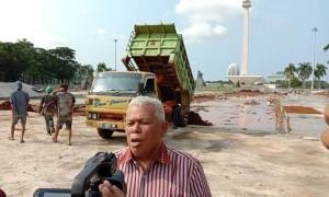 Sidak Revitalisasi Monas, DPRD: Ratusan Pohon Ditebang Bukan Dipindahkan