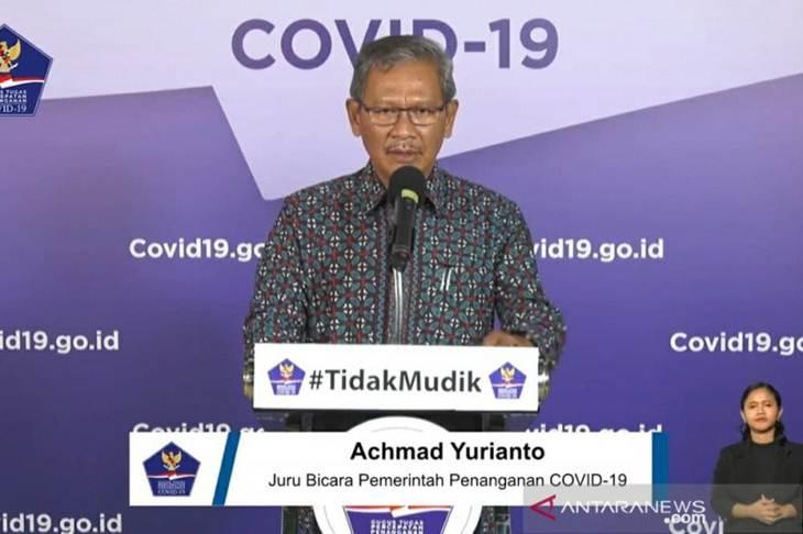 Juru Bicara Pemerintah untuk Penanganan COVID-19 Achmad Yurianto dalam tangkapan layar akun Youtube BNPB Indonesia saat menayangkan jumpa pers penanganan COVID-19 di Graha BNPB, Jakarta, Selasa (26/5/2020). ANTARA/Dewanto Samodro