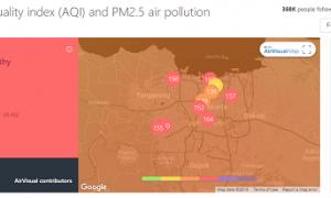 Kamis 11.30 WIB, Kualitas Udara Jakarta Terburuk di Dunia