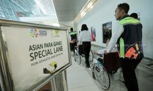 INAPGOC Gelar Simulasi Pelayanan Wheelchair Bagi Atlet Asian Para Games 2018 di Bandara Soetta
