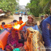Warga Terdampak Banjir di Banjar Dievakuasi
