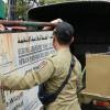 Tim Gabungan Turunkan Papan Nama Kantor DPW FPI Surakarta