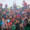 Marinir Berikan Trauma Healing untuk Anak-anak Korban Bencana Alam NTT