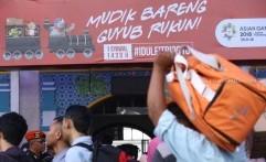 Sebanyak 19.517 Pemudik Diberangkatkan dari Stasiun Pasar Senen