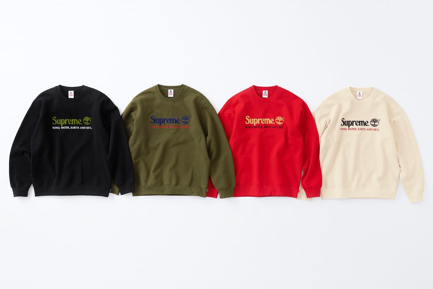 Crewneck Sweater Timerbland x Supreme. (Foto: hype bae)