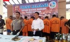 Polres Cirebon Berhasil Ungkap Sembilan Kasus Narkoba