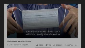 (HOAKS atau FAKTA): Orang Sehat Pakai Masker Sisi Putih Bagian Luar