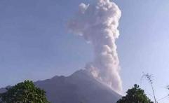 Merapi Erupsi, Desa Tlogolele Boyolali Diguyur Abu Vulkanik