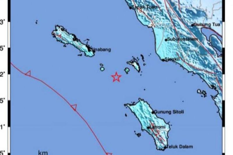 Gempa di Nias Utara Dirasakan Sampai Gunungsitoli