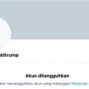 Akun Twitter Donald Trump Ditangguhkan Secara Permanen