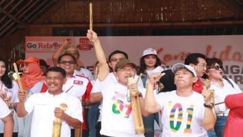 Bermodalkan Kentongan, Relawan Jokowi-Ma'ruf Siap Rebut Kemenangan di Banten