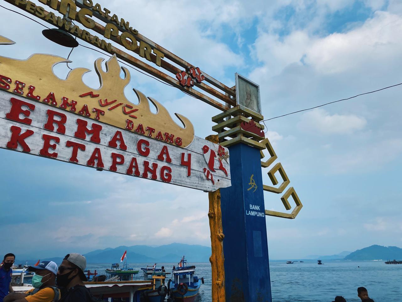 Dermaga Ketapang, Lampung. (Foto MP/Shenna)