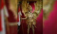 Dynand Fariz Usung Burung Garuda jadi National Costum Kezia Warouw di Ajang Miss Universe