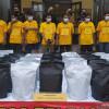 Polrestabes Bandung Amankan 150 Kg Tembakau Gorila Siap Edar