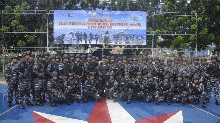 Tim Western Fleet Quick Response Lantamal III Penjaga Keamanan Perairan Barat
