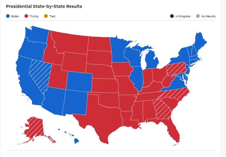 Tinggal 60 Elektoral Yang Diperebutkan Biden dan Trump