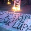 Mengenang Perjuangan Aktivis Munir, Mahasiswa UNS Nyalakan Ratusan Lilin