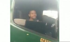 Polda Metro Amankan Bocah 12 Tahun Pengemudi Truk Kontainer