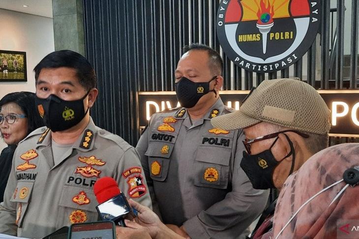 Kepala Bagian Penerangan Umum (Kabagpenum) Kombes Pol Ahmad Ramadhan, Rabu (14/4/2021) (ANTARA/Laily Rahmawaty)