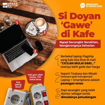 Si Doyan 'Gawe' di Kafe