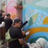 Ratusan Wisatawan Mural Batik Sepanjang 225 Meter di Kampung Batik Laweyan