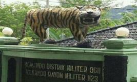 Begini Tampilan Terbaru Harimau 'Nyengir' Koramil Cisewu