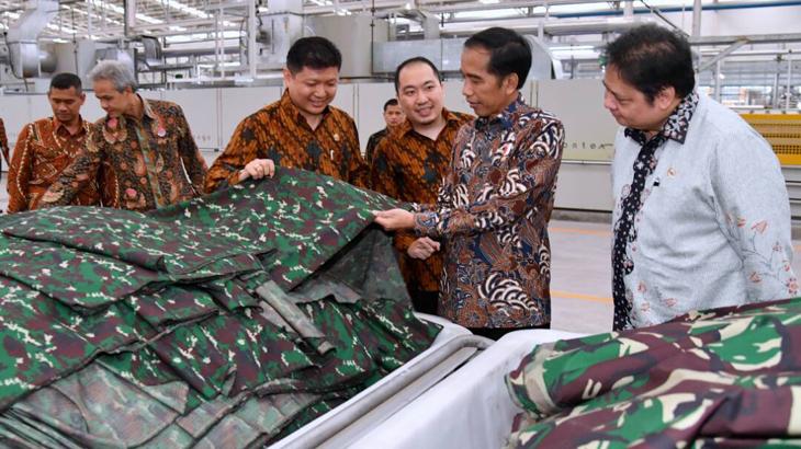 Presiden Jokowi Puji Produk Sritex
