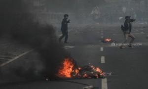 Ricuh Unjuk Rasa Mahasiswa di DPR